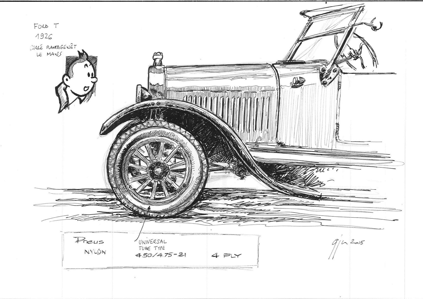 Association normande de v hicules anciens anve la ford t en mod le - Modele dessin voiture ...