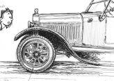 dessin de la Ford T par Jean Marie Guivarc'h