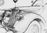 Croquis de la Lancia Ardennes 1938 par Jean Marie Guivarc'h