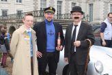 Tintin, Capitaine Hadock, et un Dupond.